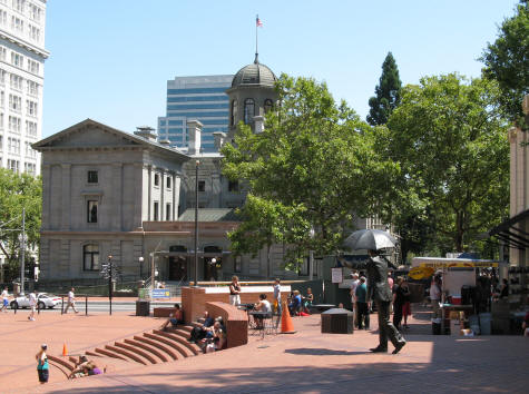 Pioneer Courthouse in Portland Oregon